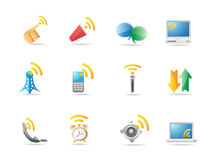 Icono de la comunicación Fotos de archivo
