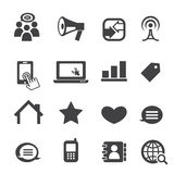 Icono de la comunicación Fotografía de archivo