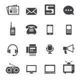 Icono de la comunicación Imágenes de archivo libres de regalías