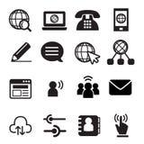 Icono de la comunicación del sitio web Imagen de archivo libre de regalías