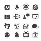 Icono de la comunicación del web Fotos de archivo