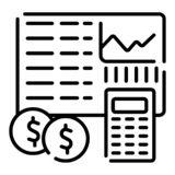 Icono de la contabilidad Vector libre illustration