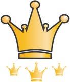 Icono de la corona Fotografía de archivo libre de regalías