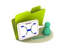 Icono de la correspondencia de mente Imágenes de archivo libres de regalías