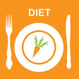 Icono de la dieta. ilustración Imagenes de archivo