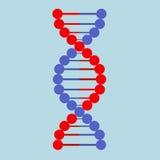 Icono de la DNA del ejemplo de color del vector plano Imagen de archivo libre de regalías