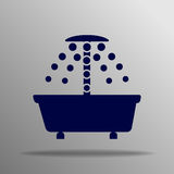 Icono de la ducha Fotografía de archivo libre de regalías