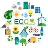Icono de la ecología Imágenes de archivo libres de regalías