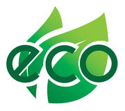 Icono de la ecología Eco-icono Foto de archivo libre de regalías