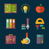 Icono de la educación Imagenes de archivo