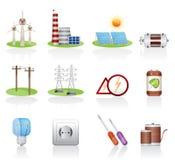 Icono de la electricidad Fotografía de archivo libre de regalías