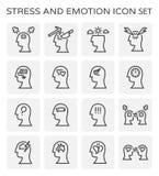 Icono de la emoción de la tensión ilustración del vector