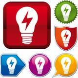 Icono de la energía del rayo Foto de archivo libre de regalías