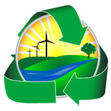 Icono de la energía eólica Imagenes de archivo