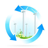 Icono de la energía renovable ilustración del vector