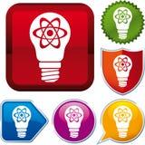 Icono de la energía atómica Fotografía de archivo libre de regalías