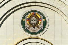 Icono de la entrada de la catedral de Cristo el salvador Kaliningrado Fotos de archivo