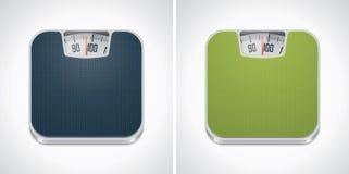 Icono de la escala del peso del cuarto de baño del vector Imagen de archivo