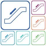 Icono de la escalera de la escalera móvil Fotos de archivo