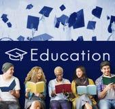 Icono de la escuela del plan de estudios de la certificación de la academia Imágenes de archivo libres de regalías
