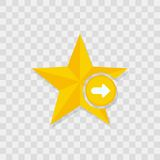 Icono de la estrella, icono correcto de la flecha libre illustration