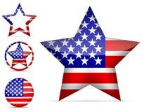 Icono de la estrella de América Imágenes de archivo libres de regalías