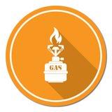 Icono de la estufa de gas que acampa Imagenes de archivo
