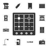 Icono de la estufa de gas Sistema detallado de iconos de los artículos del hogar Diseño gráfico de la calidad superior Uno de los ilustración del vector