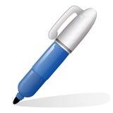 Icono de la etiqueta de plástico de la pluma ilustración del vector