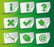 Icono de la etiqueta engomada Imágenes de archivo libres de regalías