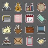 Icono de la etiqueta engomada del negocio Foto de archivo