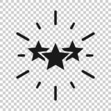 Icono de la excelencia en estilo transparente Ejemplo del vector de la cinta de la estrella en fondo aislado Concepto del negocio ilustración del vector