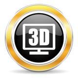 icono de la exhibición 3d stock de ilustración