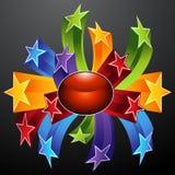 Icono de la explosión de la estrella Fotos de archivo