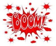 Icono de la explosión del auge Imagen de archivo libre de regalías