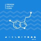 Icono de la fórmula química serotonin stock de ilustración