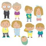 Icono de la familia de la historieta Imagenes de archivo