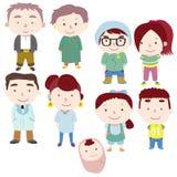 Icono de la familia de la historieta Imagen de archivo libre de regalías