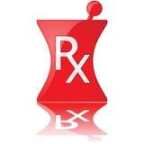 Icono de la farmacia stock de ilustración