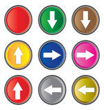 Icono de la flecha Foto de archivo