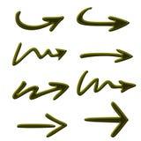 Icono de la flecha Fotografía de archivo