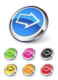 Icono de la flecha derecha Imagen de archivo libre de regalías