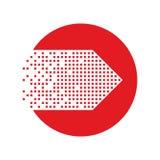 Icono de la flecha en estilo plano de moda Fotografía de archivo libre de regalías