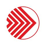 Icono de la flecha en estilo plano de moda Fotos de archivo libres de regalías