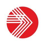 Icono de la flecha en estilo plano de moda Imagen de archivo libre de regalías