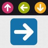 Icono de la flecha para arriba abajo del botón izquierda-derecha - ejemplo colorido del vector - aislado en fondo transparente Fotografía de archivo libre de regalías