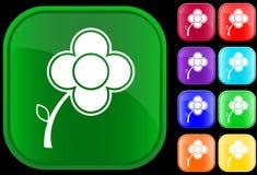 Icono de la flor Foto de archivo