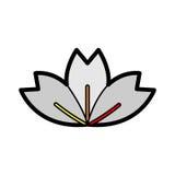 Icono de la flor Fotografía de archivo
