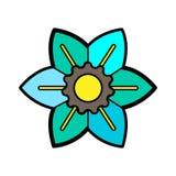 Icono de la flor Foto de archivo libre de regalías