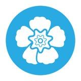 Icono de la flor Fotografía de archivo libre de regalías